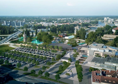 Több mint 21 milliárd forintból építenek vízi élményparkot Győrben